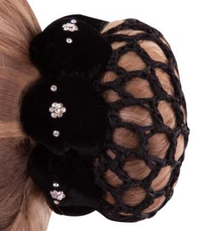 Filet Résille cheveux BR Lotus Noir
