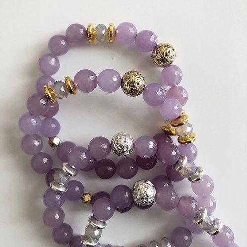 Lilac Jade Bracelet