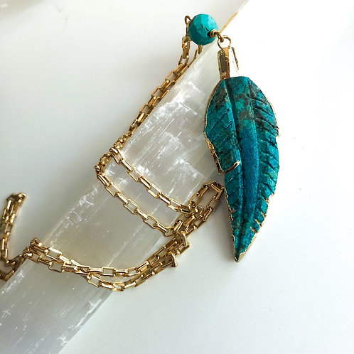 Cobalt Feather Necklace