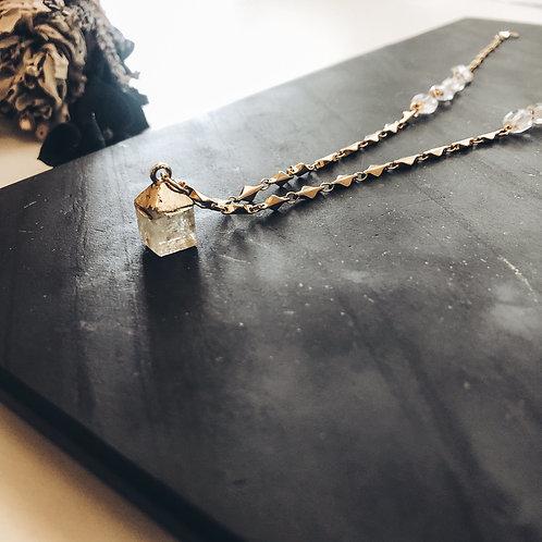 Quartz Cube Necklace