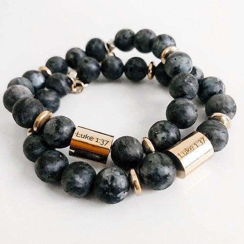 Labarodite Stone Luke 1:37 Bracelet