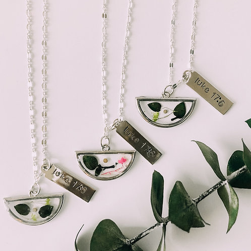 Silver Mustard Seed Necklace