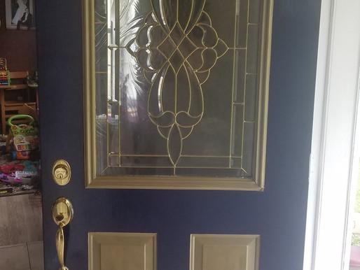 Smudge Creates a Restored Door
