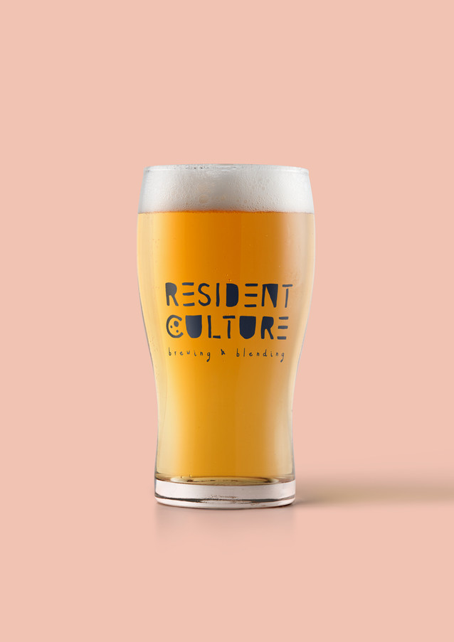 Resident Culture Brewing - logo pint glass
