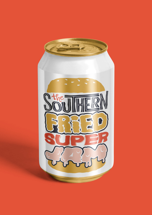 The Southern Fried Super Jam - hand lettering design
