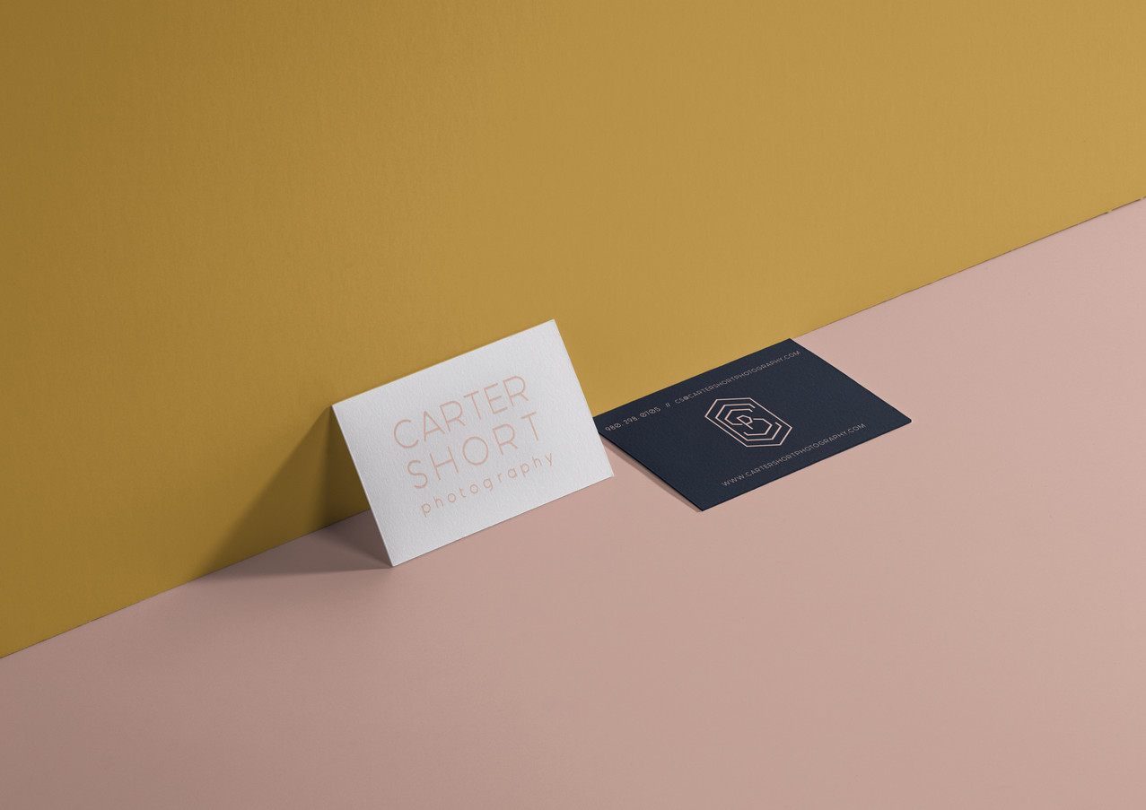Carter Short Photography - business cards