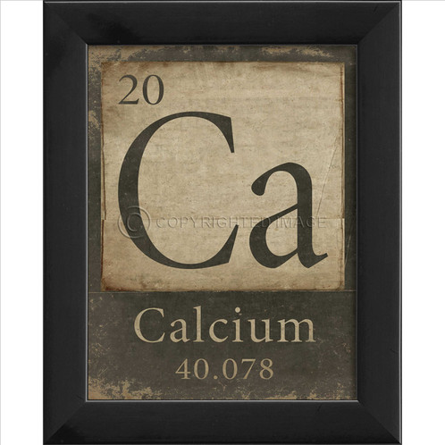 Scientific Periodic Table Of Elements Calcium Framed Giclee Print