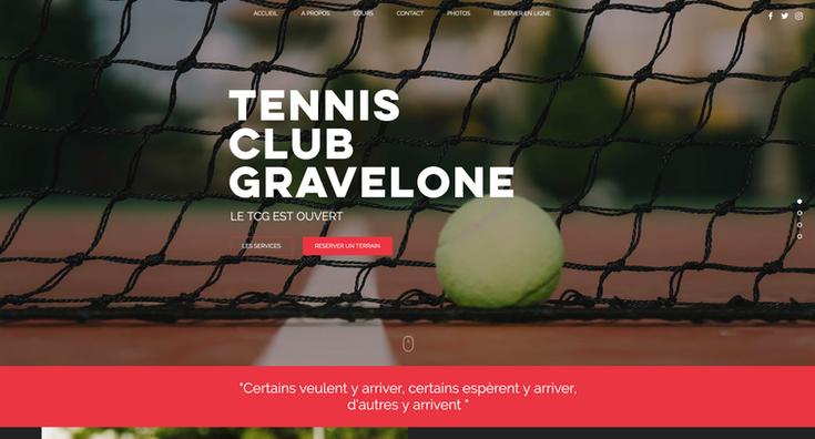 Site tennis club gravelone