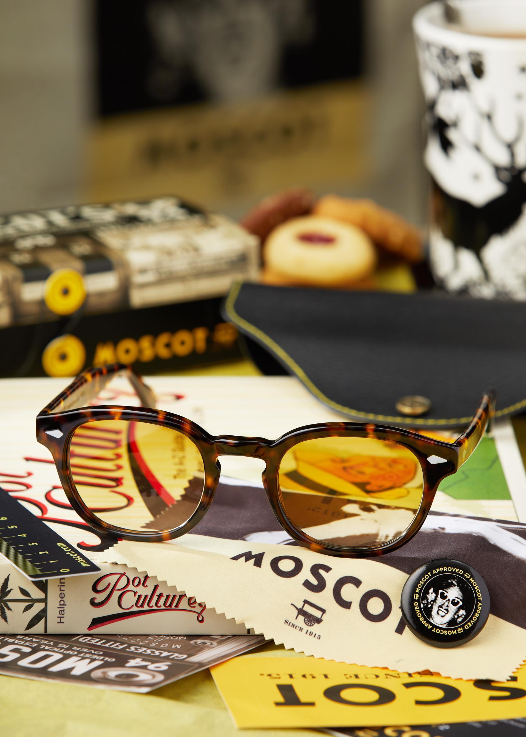 Moscot glasses.