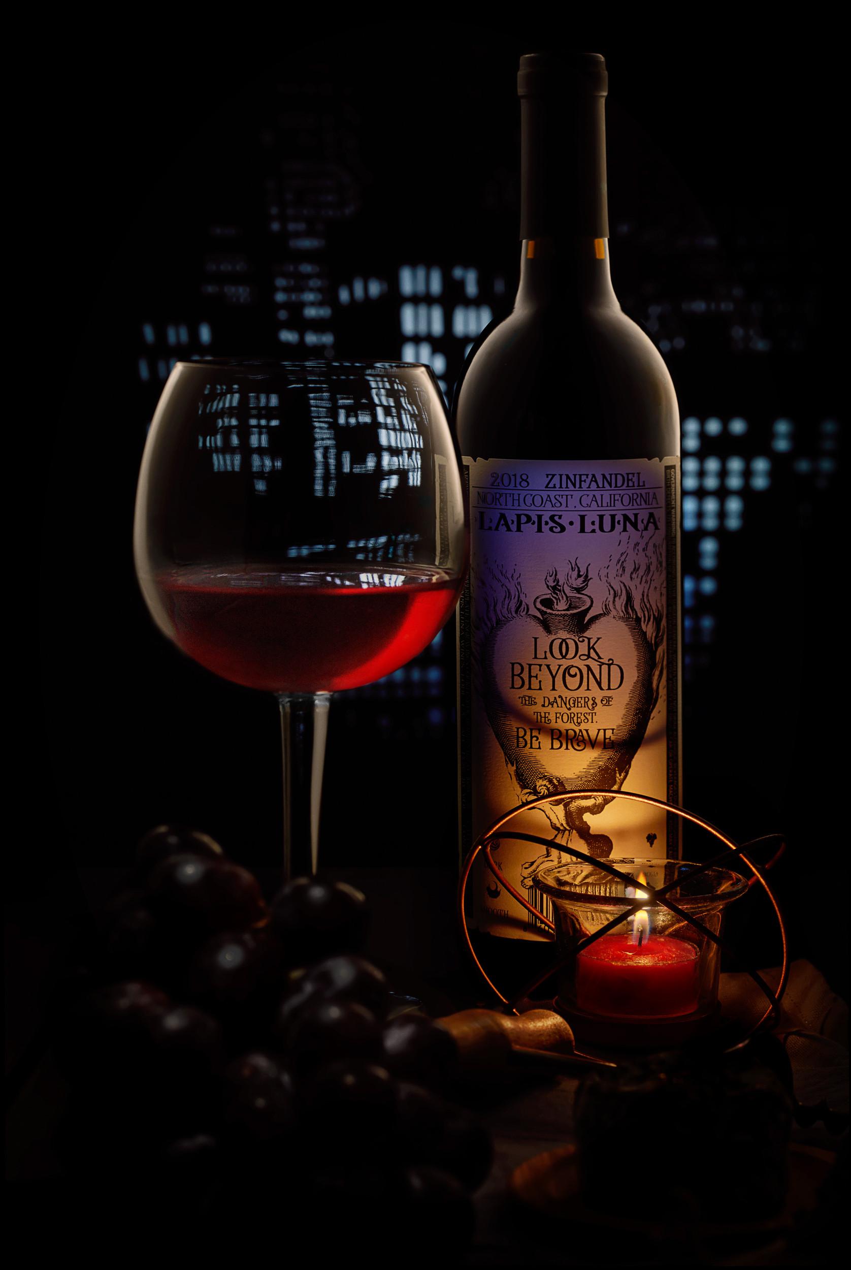 Wine at night city.