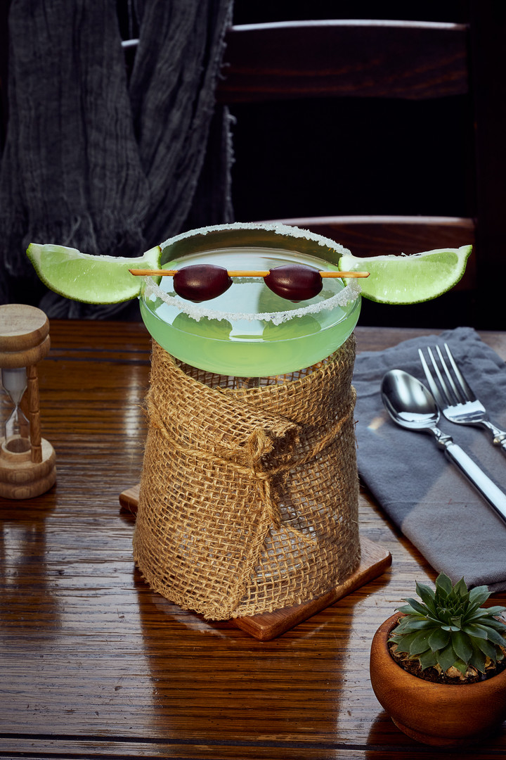 Baby Yoda cocktail.