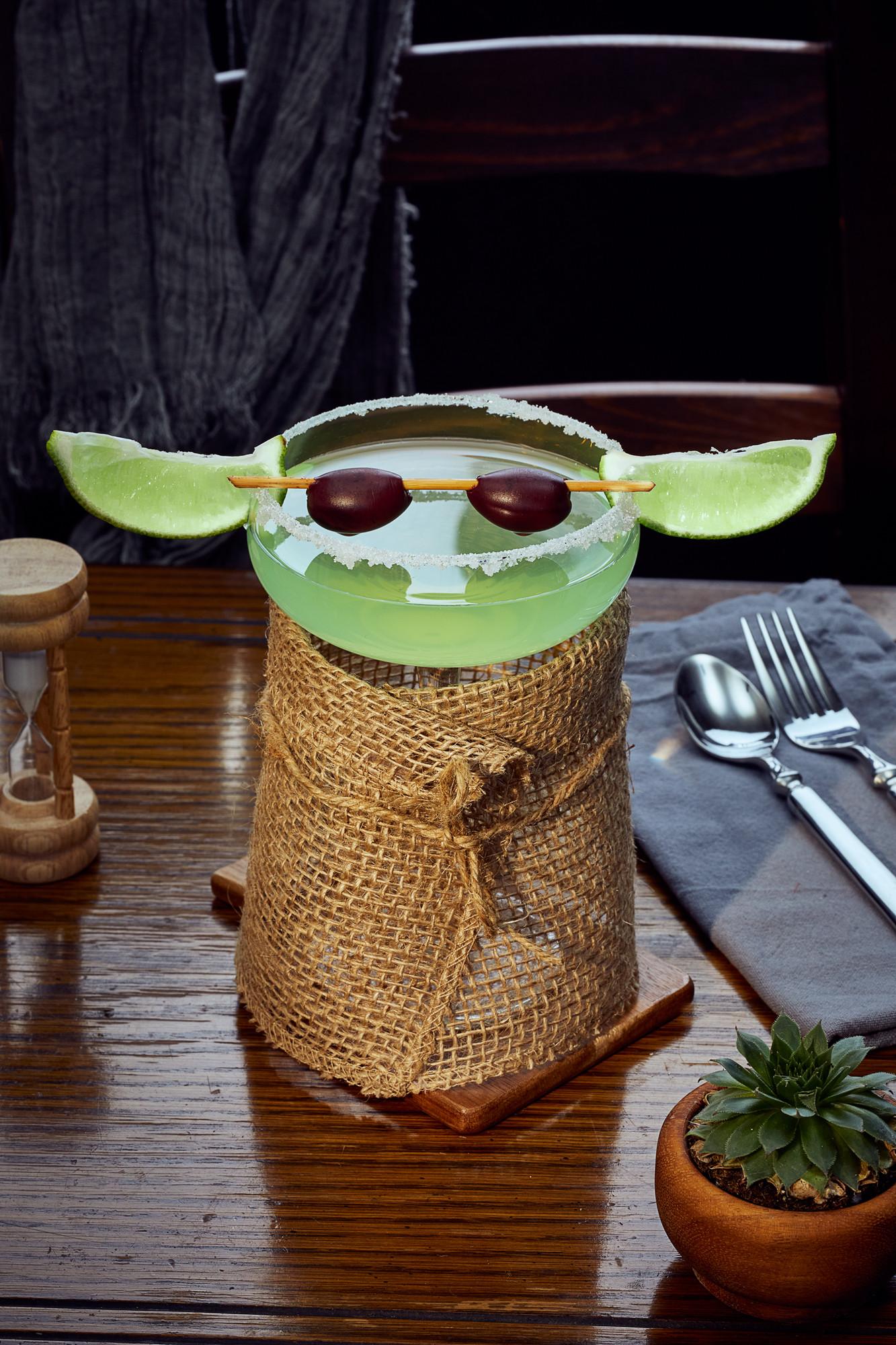 Baby Yoda cocktail.