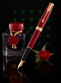 PARKER Sonnet Pen, Red Lacquer with Gold