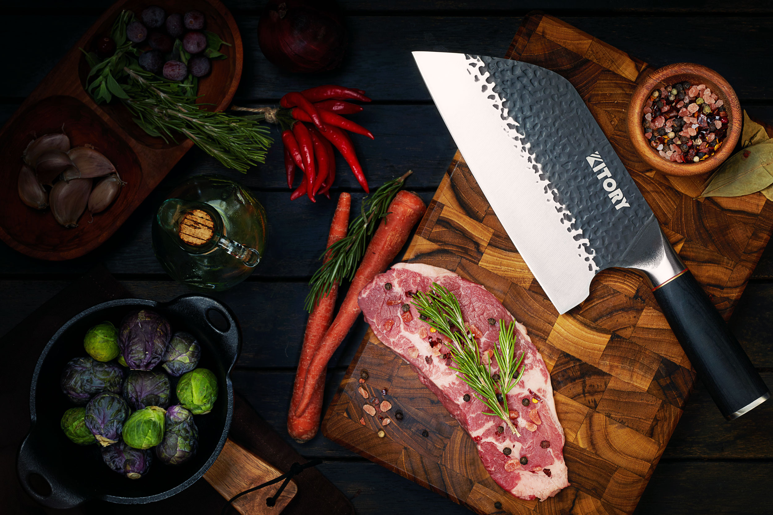 KITORY Forged Meat Cleaver