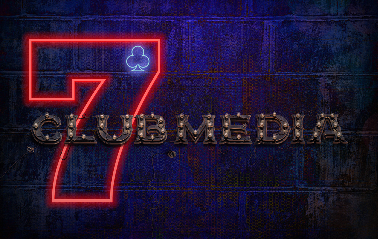7clubmedia logo mockup for web page