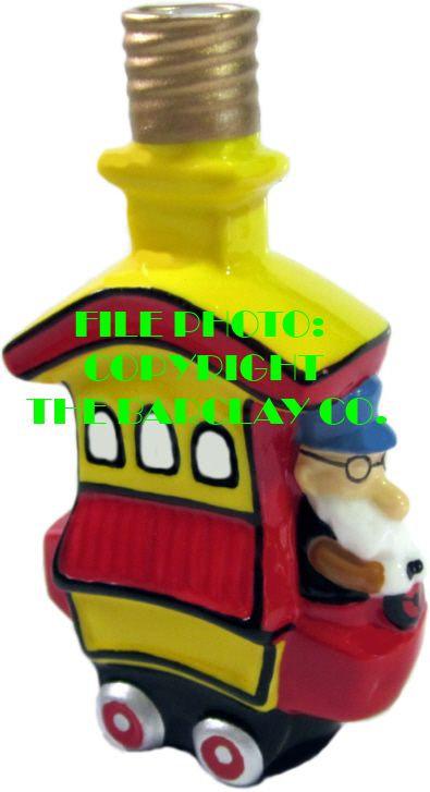 "#BC-034 - Toonerville Folks ""Milk Glass"" Bulb Cover - Toonerville Trolley"