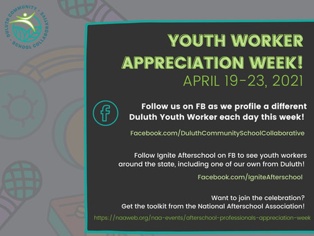 Celebrate with us! Youth Worker Appreciation Week April 19-23, 2021