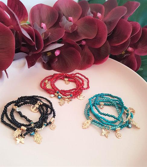 5 Piece Lucky Charm Bracelet