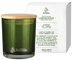 Lemongrass, Lemon Myrtle, Grapefruit & Eucalyptus Scented Soy Candle 400g