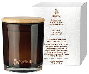 Vanilla, Lavender & Geranium Scented Soy Candle 400g