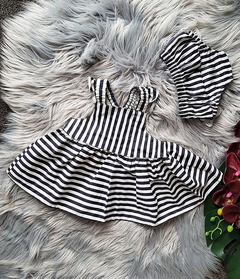 Navy & White Stripe 2 Piece