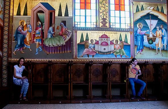 טווח ביטחון בכנסיה בצפון הכינרת
