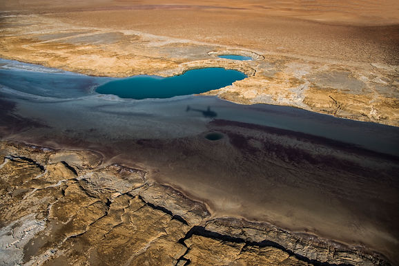 ים המלח ממעוף ההליקופטר