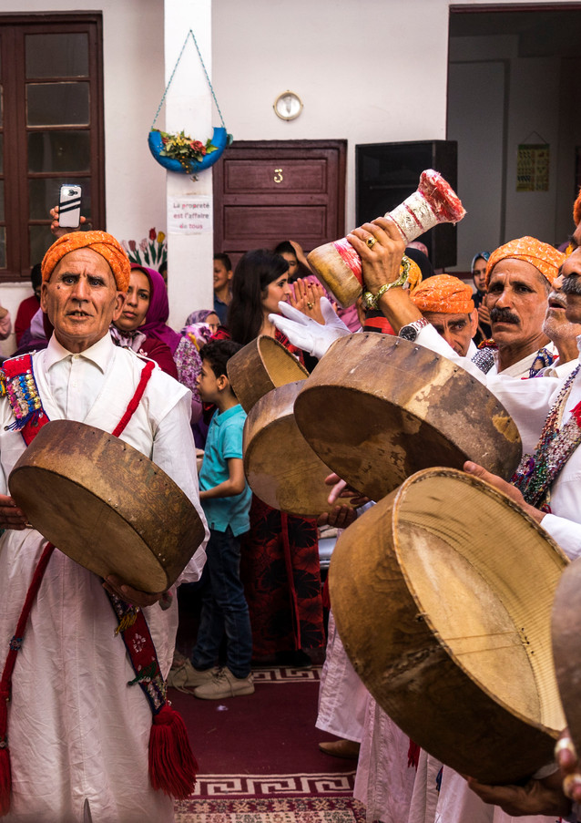 חגיגה בבית הספר לתחילת שנת הלימודים במרוקו