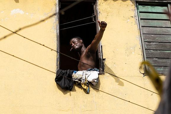 אמיתי על הבוקר בגאנה