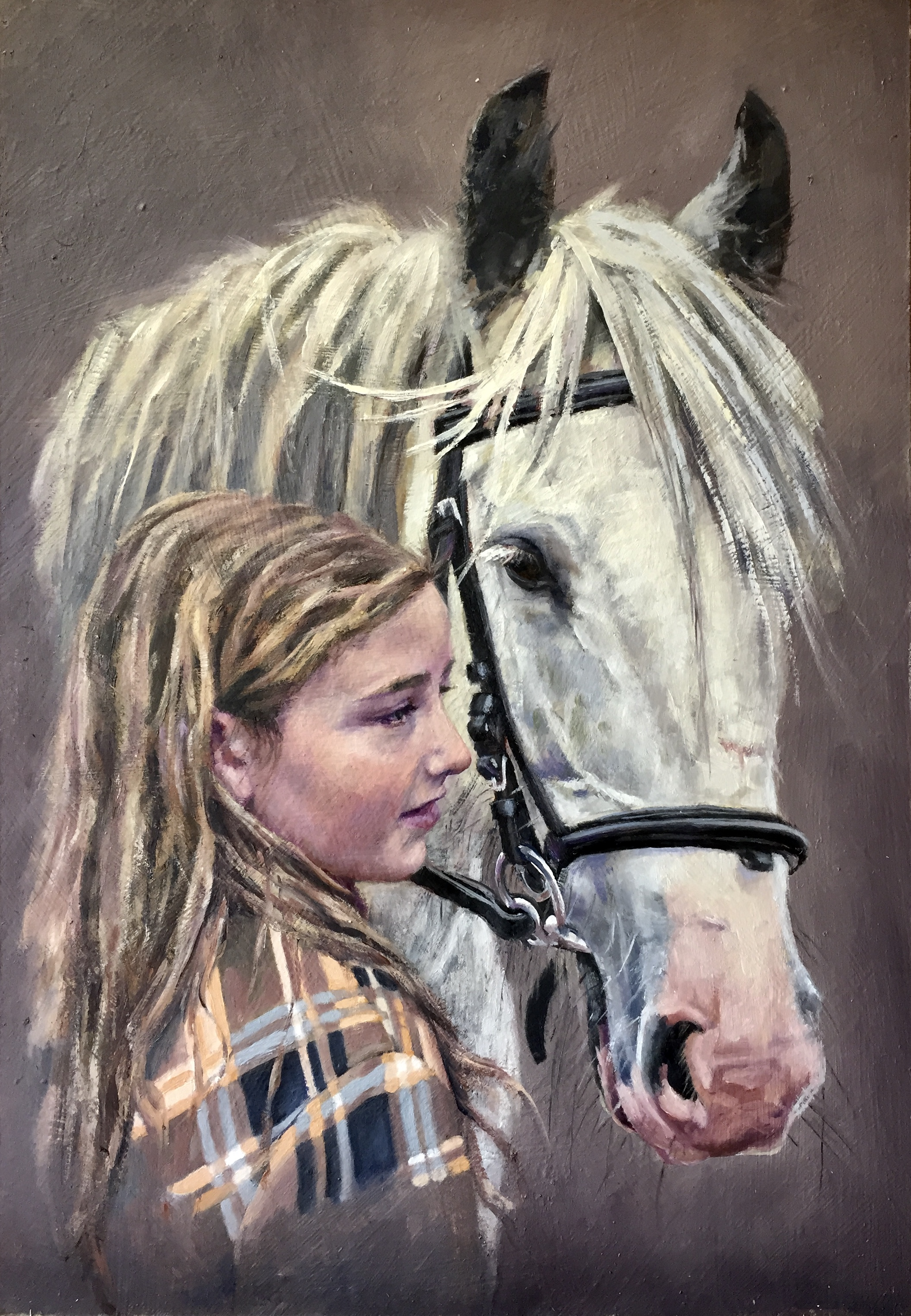 'A Girl and her Pony'. Commision