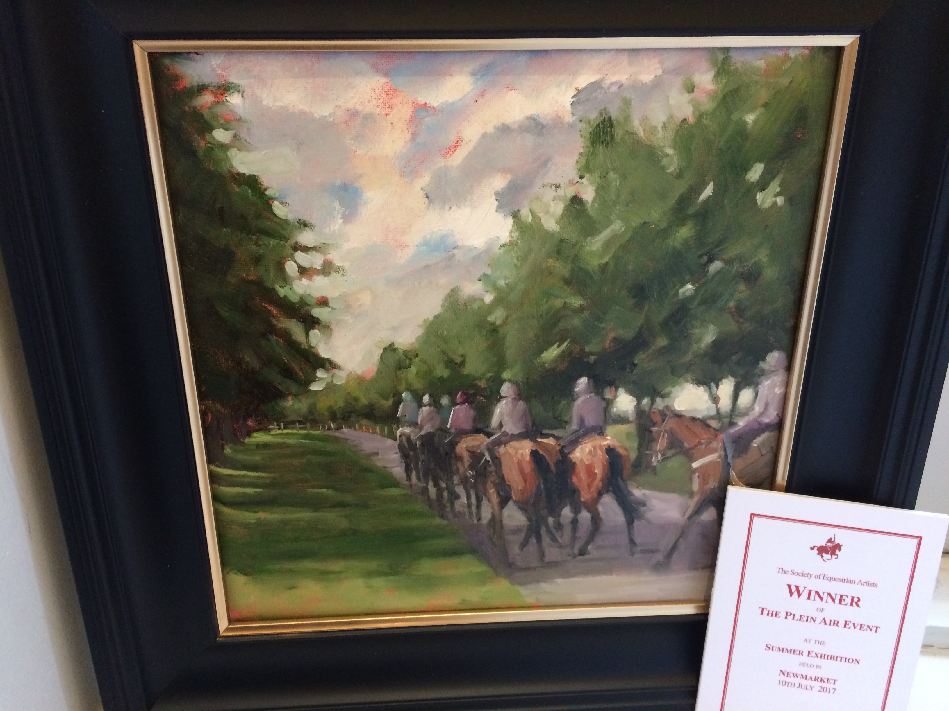 Plein Air Winner, Newmarket 2017