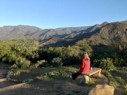 Overlooking the Ojai Valley Mountain