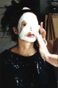 how to apply plaster gauze bandages to face for mask making stesp by step