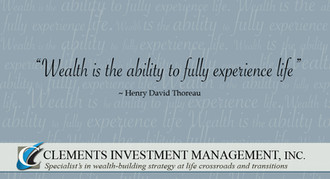Clements Investement Management Business Card Back