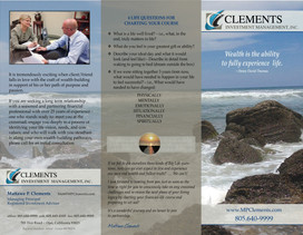 Clements Investement Management Brocuhure Front