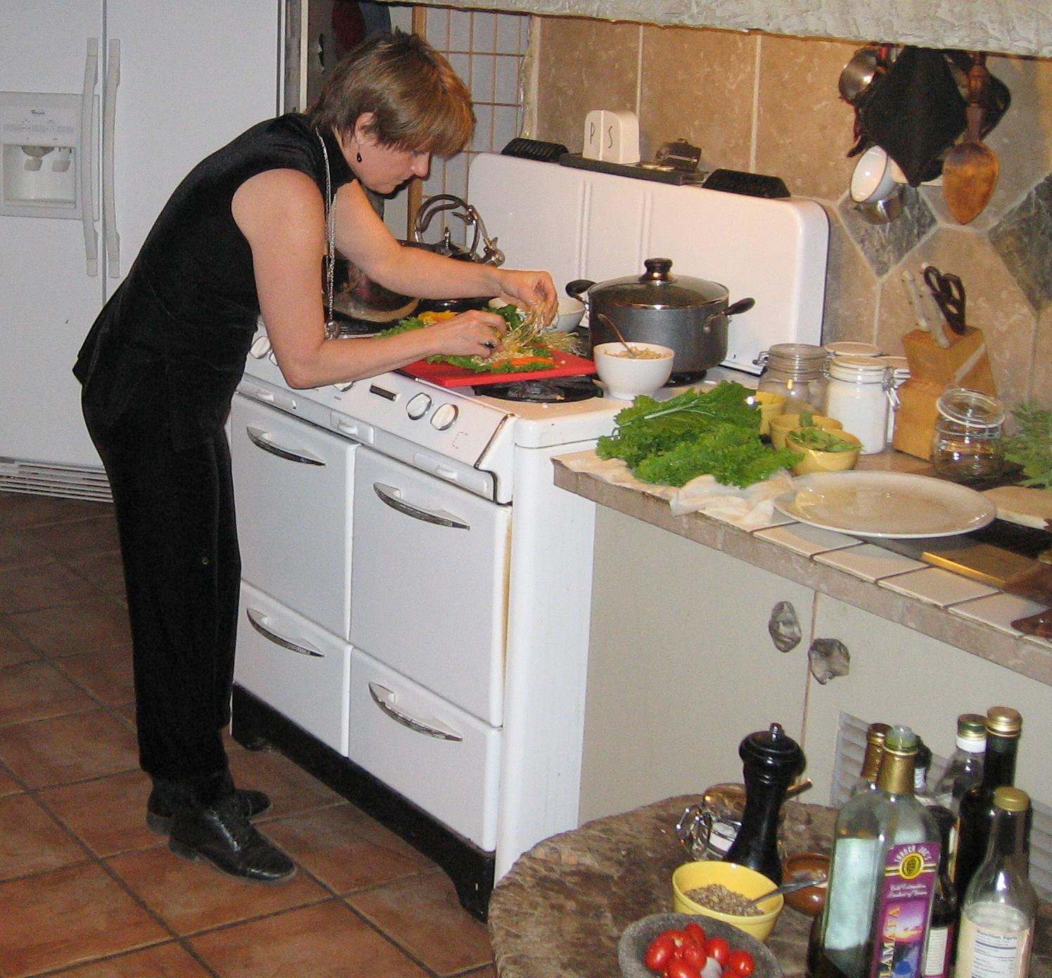 Ronda LaRue preparing healthy mean
