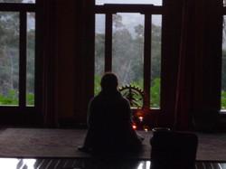 Early morning meditation, Ojai