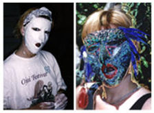 Mask making as Shaman studies and art therapy with Ronda LaRue
