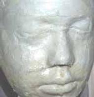 paper mache face mask wth plaster of paris