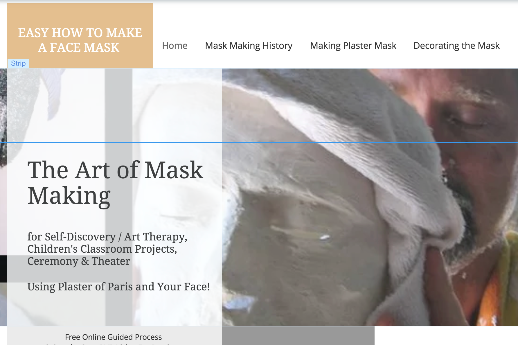 make a face mask | plaster mask making | how to instruction