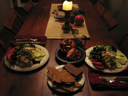 Meal at Soul Arts Retreat