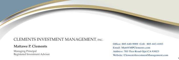 Clements Investement Management Letter Head Top