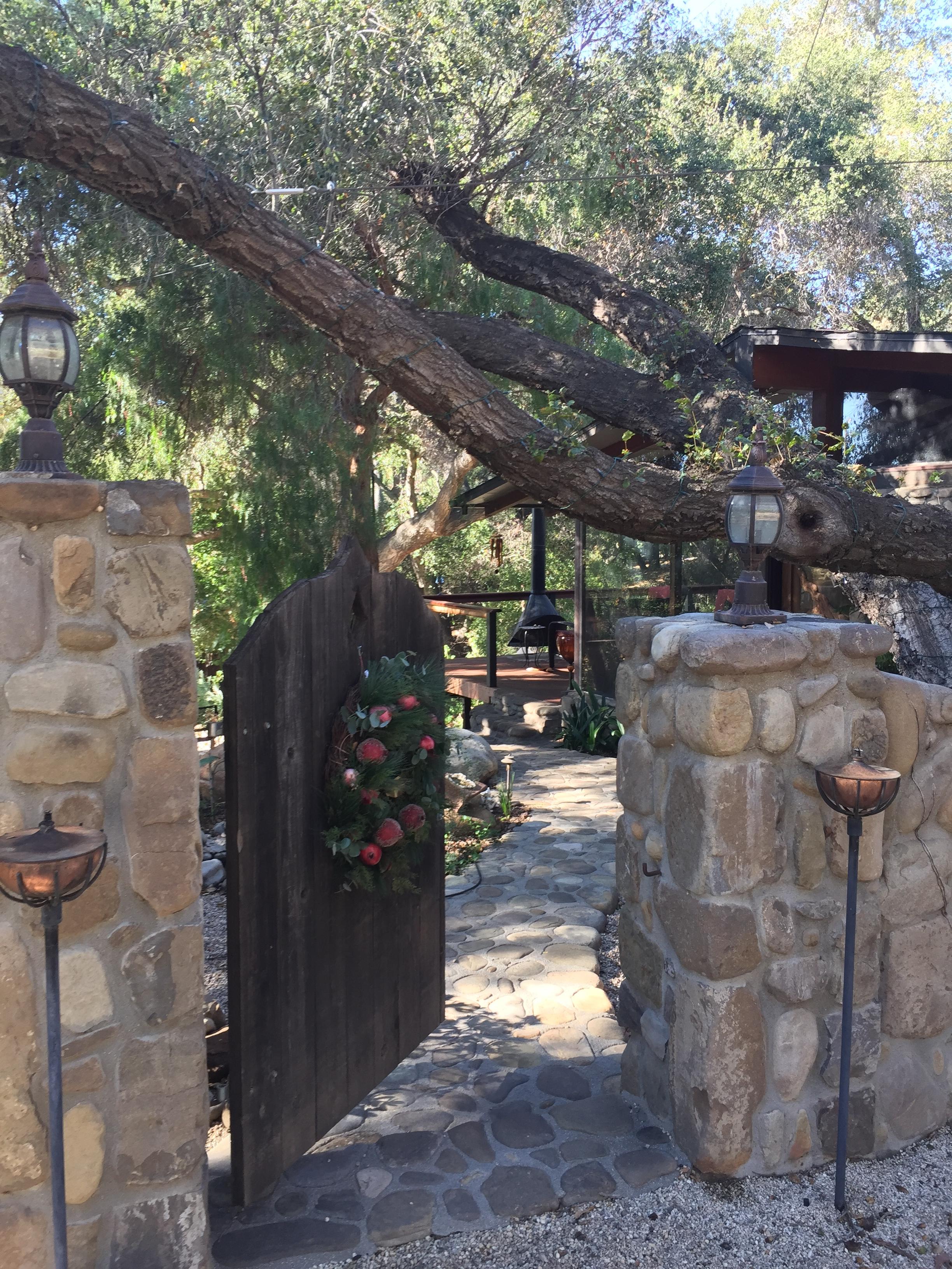 entrance ronda house gate open