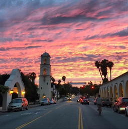Beautiful arts town of Ojai California
