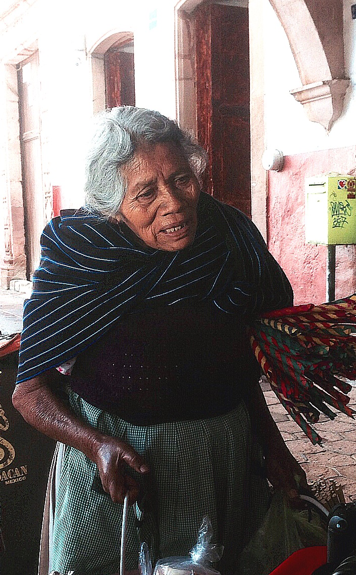 Old Mexican Woman at Market