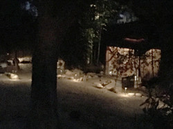 The Clarity Cottage at night