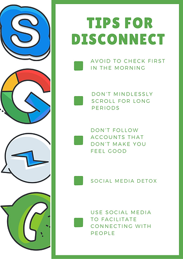 Tips to disconnect from social media