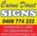 UCC Sponsor Cairns Direct Signs 2 logo.J