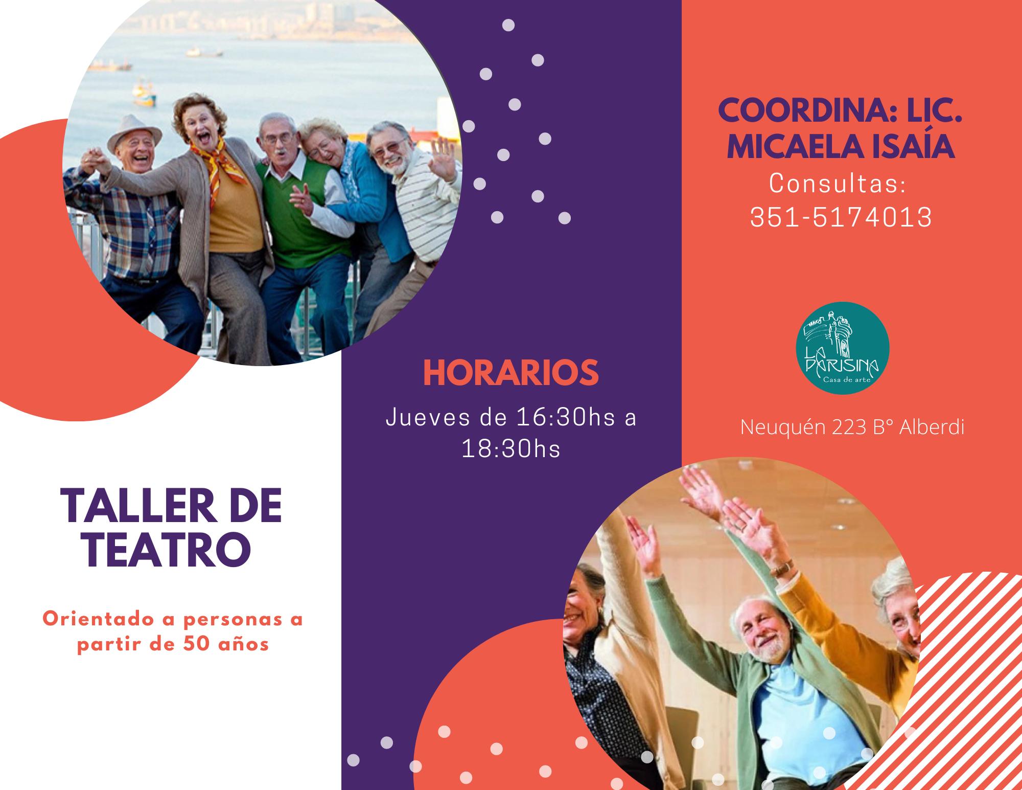 Teatro Adultos Mayores Flyer 1