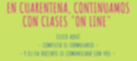 En cuarentena, continuamos con clases _o